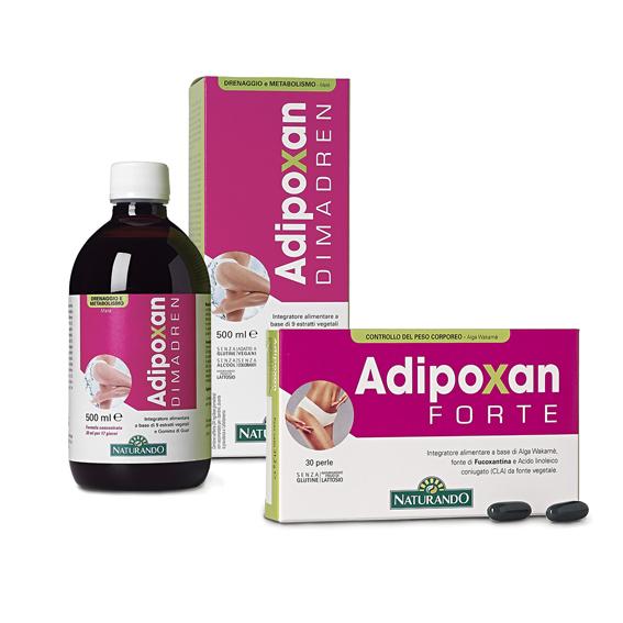 Naturando, Brucia grassi, Kit 2 prodotti adipoxan (Forte + Dimadren)