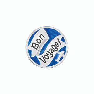 Chamilia Charm in argento 925 con smalto blu Bon Voyage! Buon viaggio! 2020-1057
