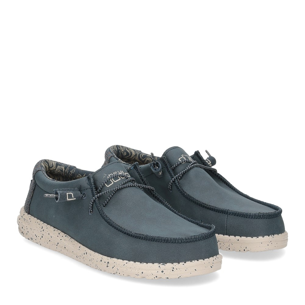 Hey Dude Wally recycled leather navy