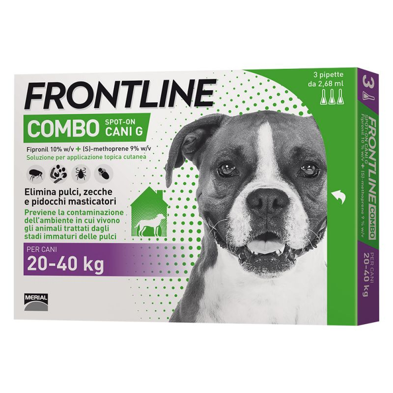 FRONTLINE COMBO PER CANE 20-40KG 3 FIALE SPOT-ON