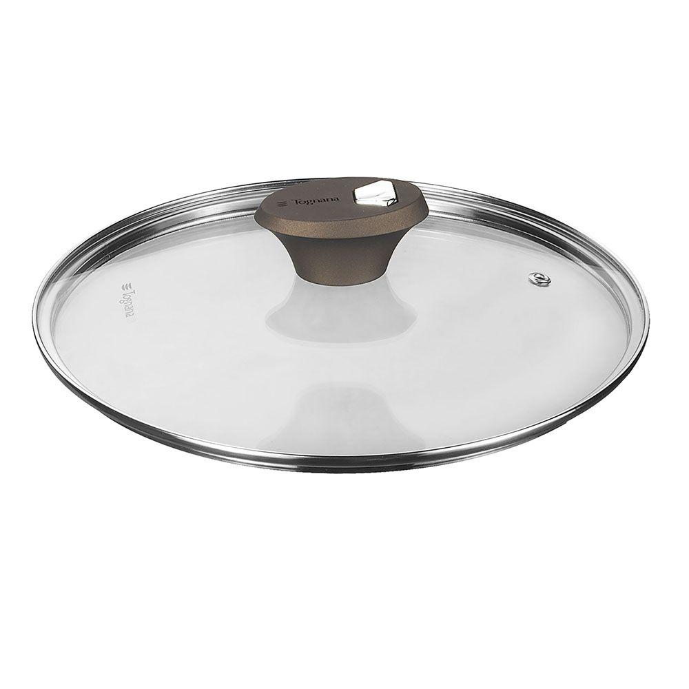 TOGNANA - DIAMANTEA - Coperchio Trasparente Con Foro Vetro Trasparente 28 Cm