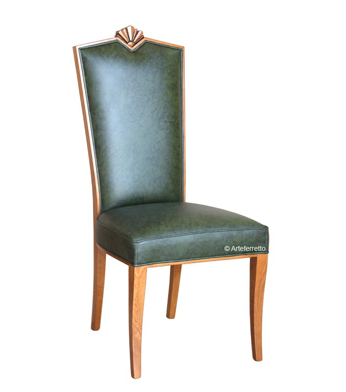 Chaise bois et tissu B-King