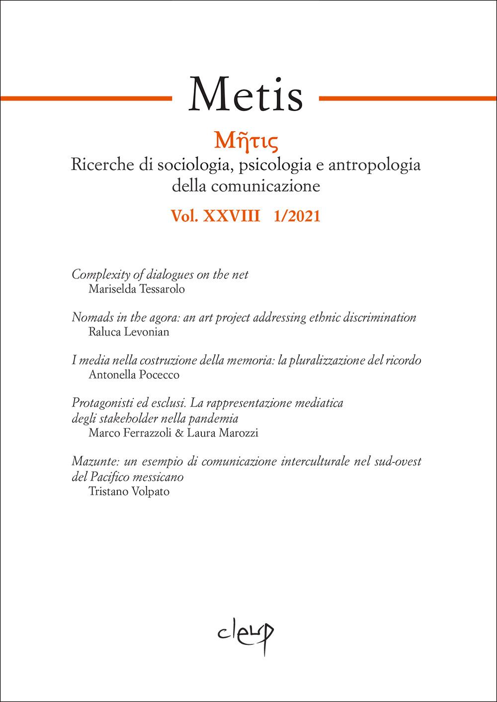 Metis 2021  - Vol. XXVIII  1/2021