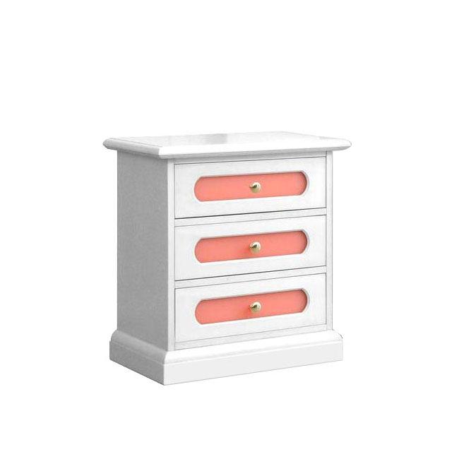 Zweifarbiger Nachttisch für Mädchenzimmer - Rosa