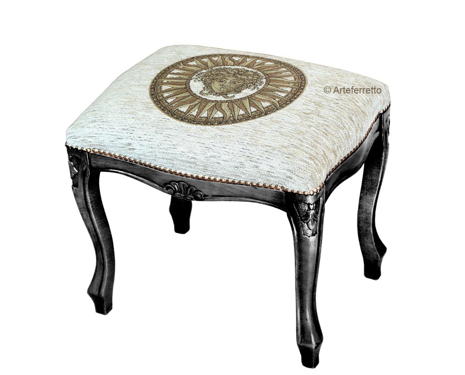 Lacquered footrest stool