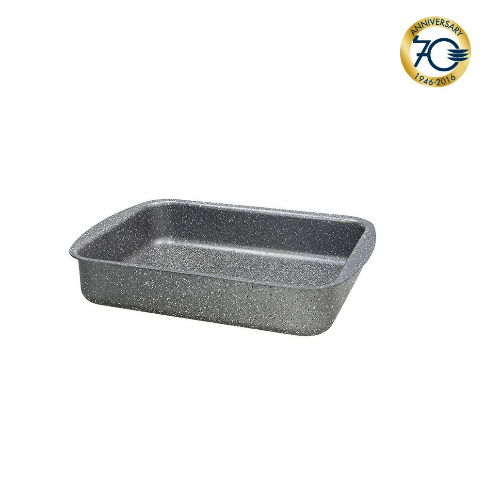 TOGNANA - MYTHOS - Lasagnera Cm 40x28h7,5 Marble Nero Floatech Alluminio Nero