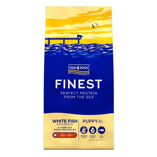 FISH4DOGS OCEAN WHITE FISH PUPPY SMALL 12 KG.