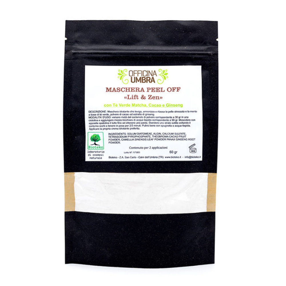 Peel-off Lift and Zen con Tè verde Matcha - Cacao - Ginseng
