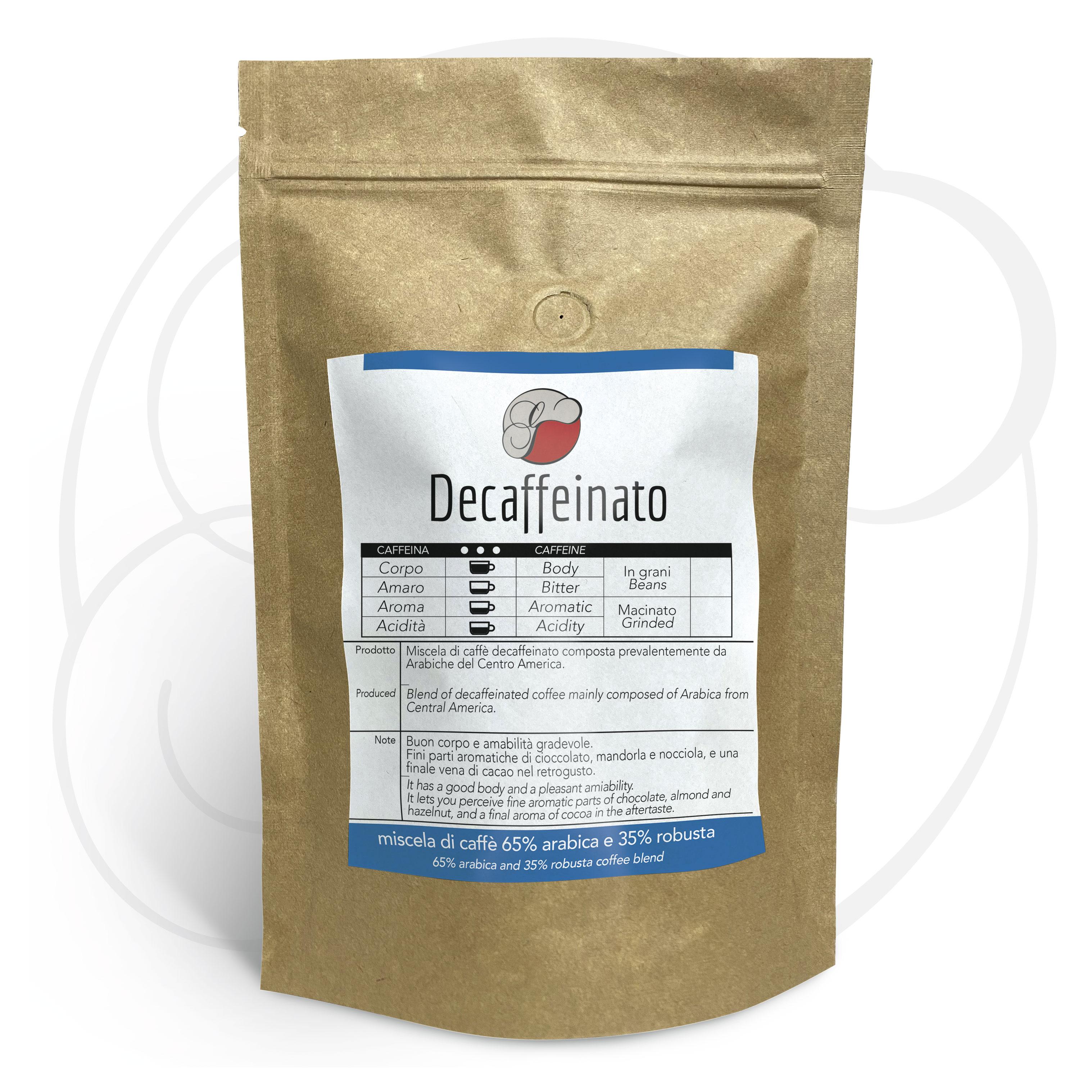 Miscela di caffè Decaffeinato in grani GustoTop confezione da 1 Kg