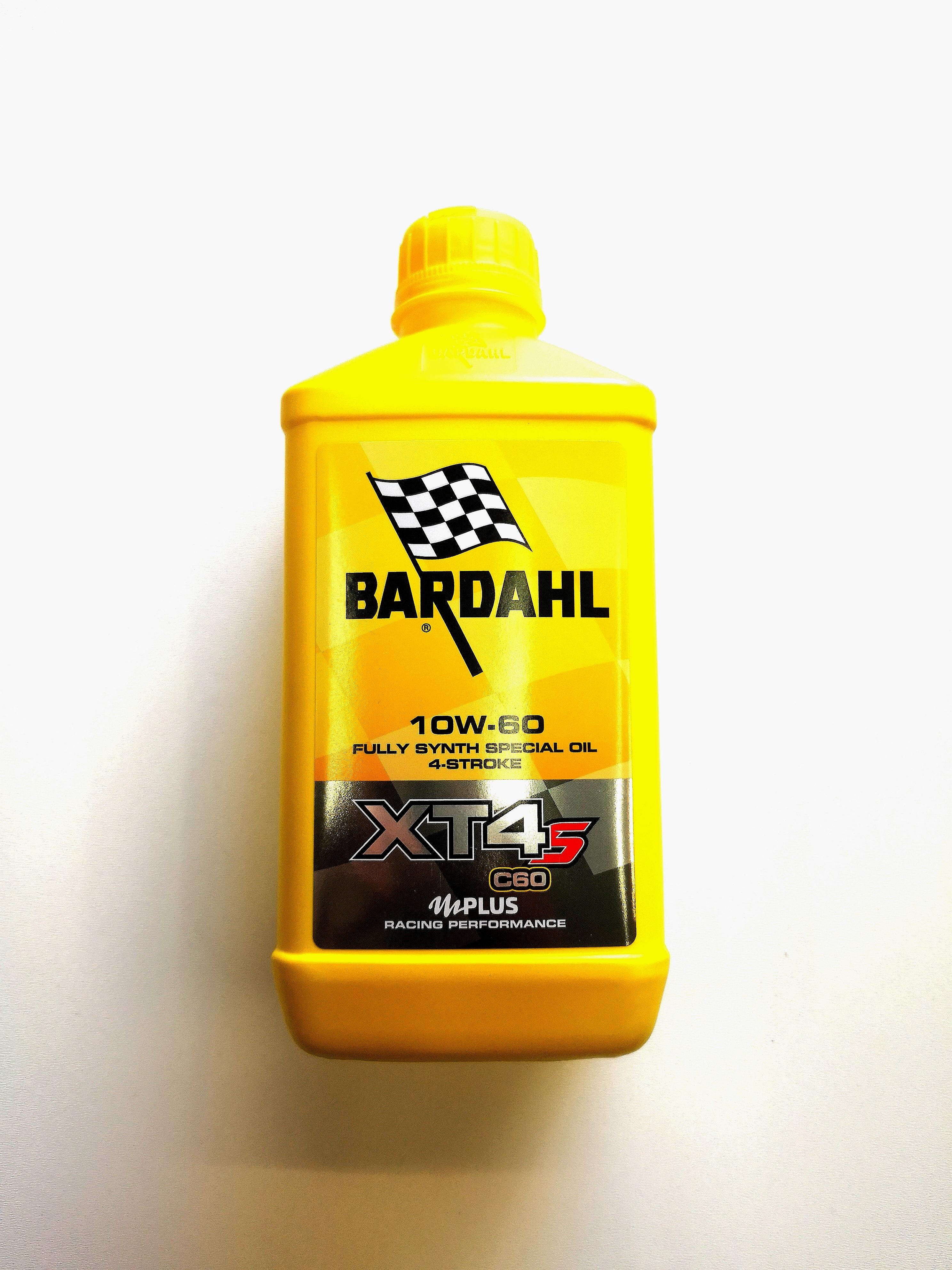OLIO MOTORE BARDAHL XT-S C60 per MOTO e SCOOTER 4 TEMPI 100% SINTETICO SAE 10W60