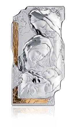 RANIERI - SACRO - Sacra famiglia 20x37 argento + oro