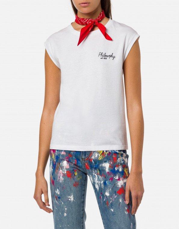 T-shirt con bandana philosophy di lorenzo serafini