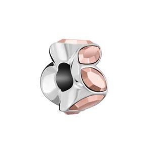 Chamilia Charm in argento e Swarovski Rose gold Crystal Accent 2025-2412