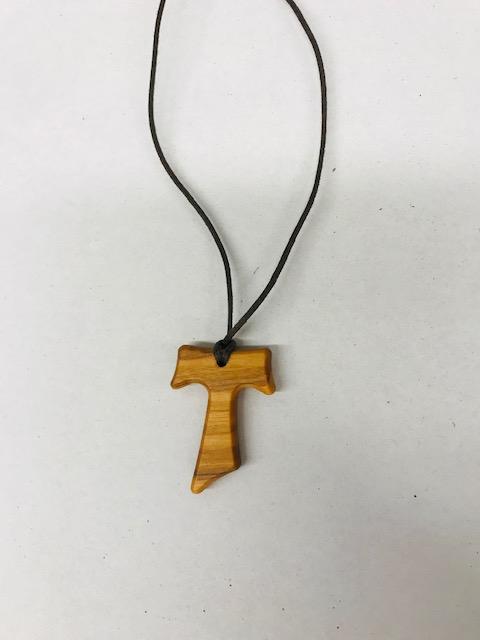 Croce tau legno ulivo cm. 3