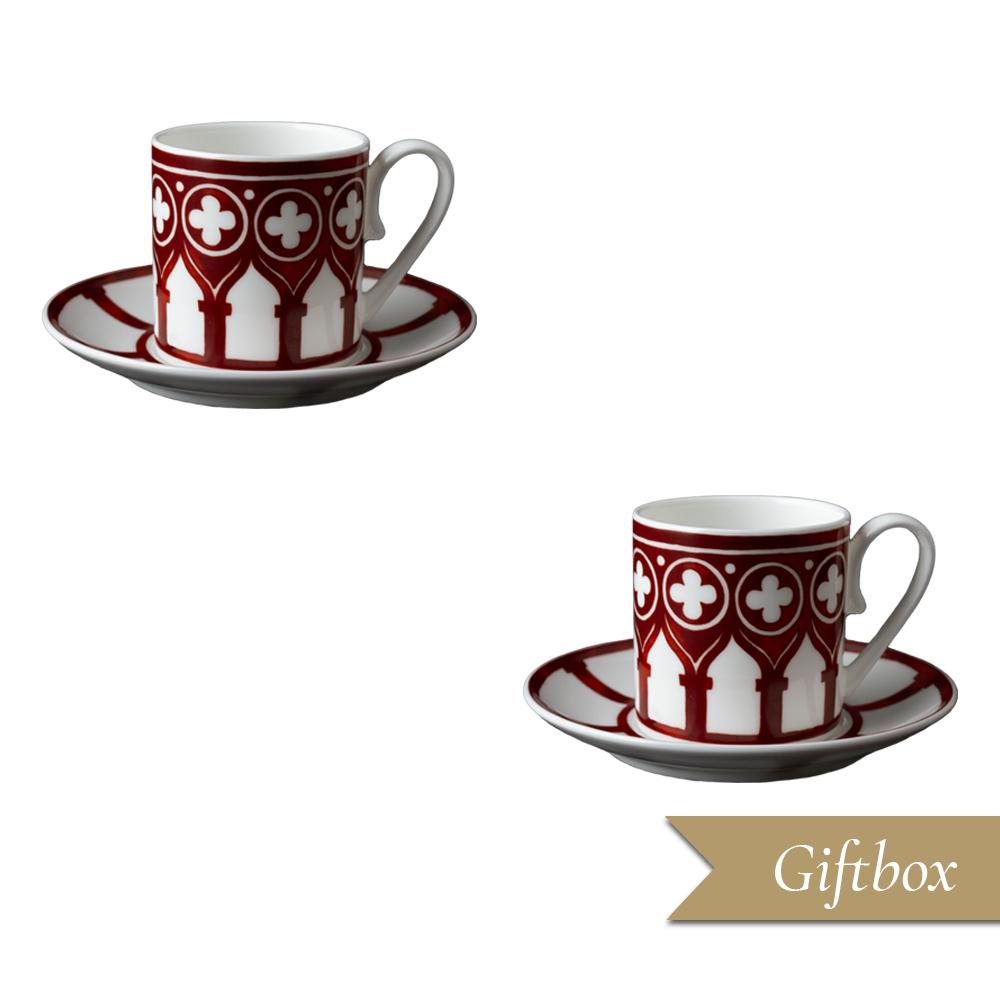 Set caffè 4 pezzi in Giftbox GCV | Le loze dei bei palassi | Venezia 1600