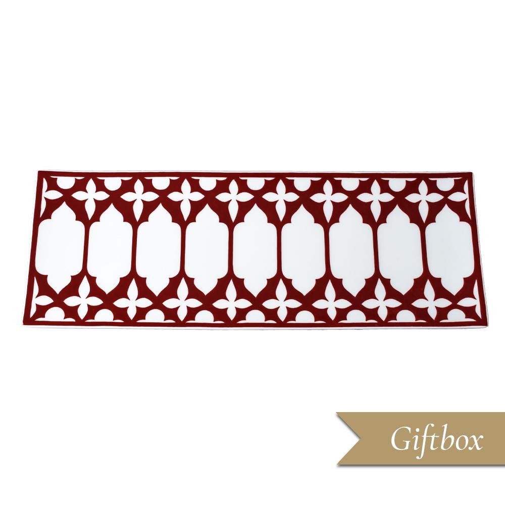 Vassoio rettangolare cm 35 in Giftbox GCV   Le loze dei bei palassi   Venezia 1600