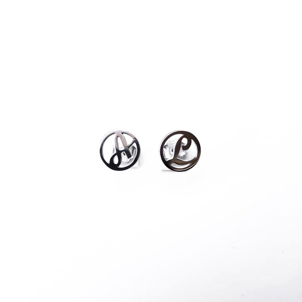 Coppia di orecchini argento 925 con lettera