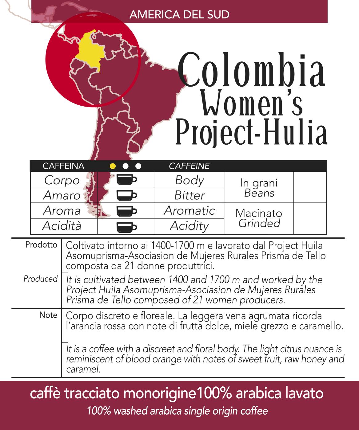 Caffè monorigine in cialda Colombia, confezione da n. 50 cialde in carta ese 44 mm compatibili