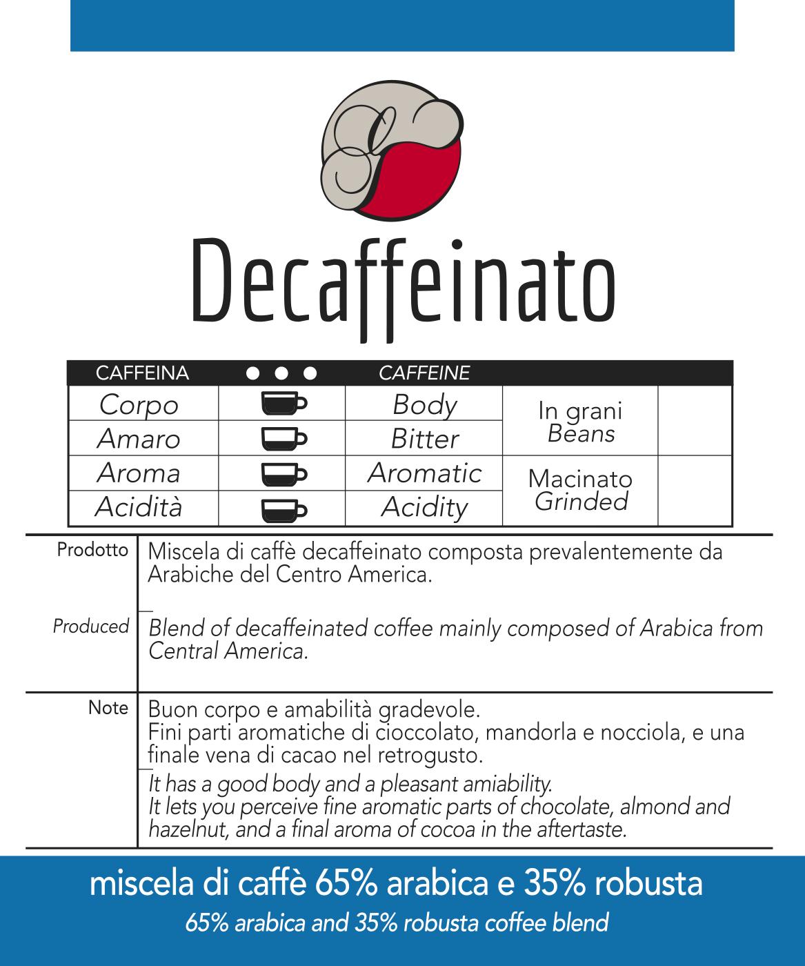 Caffè Decaffeinato in cialda GustoTop, confezione da n. 50 cialde in carta ese 44 mm compatibili
