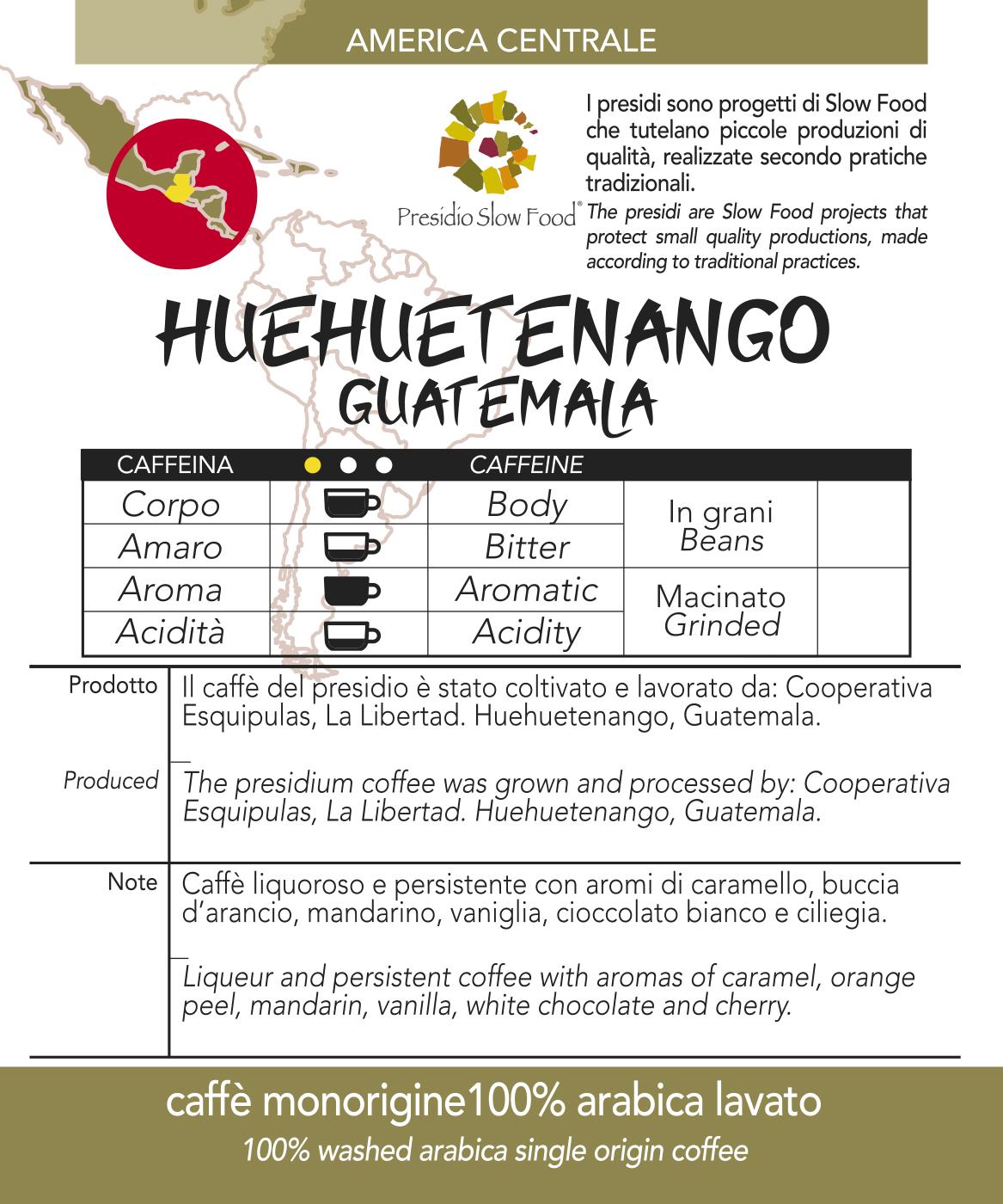 Caffè monorigine in cialda Guatemala Huehueguetenango, confezione da n. 50  cialde in carta ese 44 mm compatibili