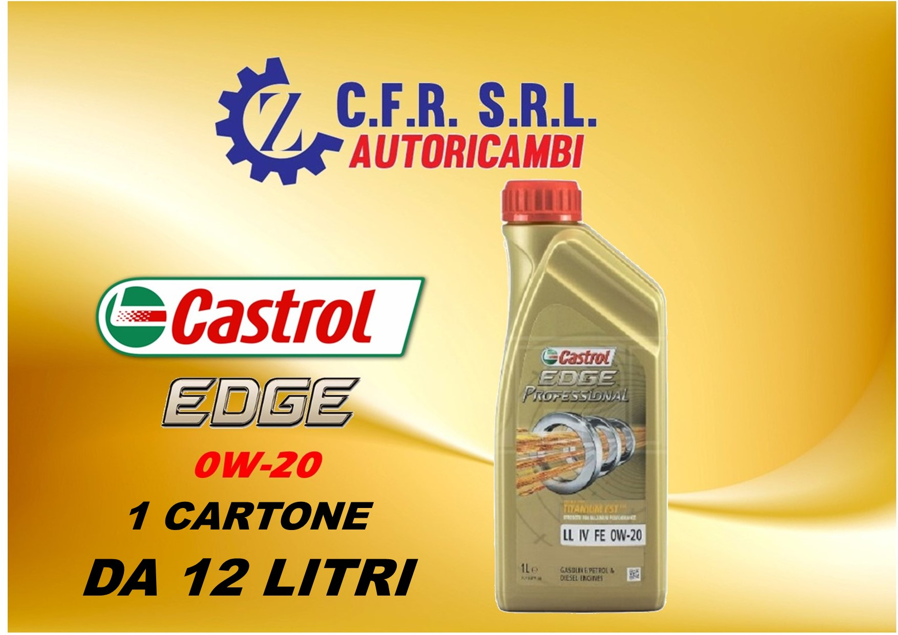 12PZ OLIO LUBRIFICANTE CASTROL EDGE 0W-20