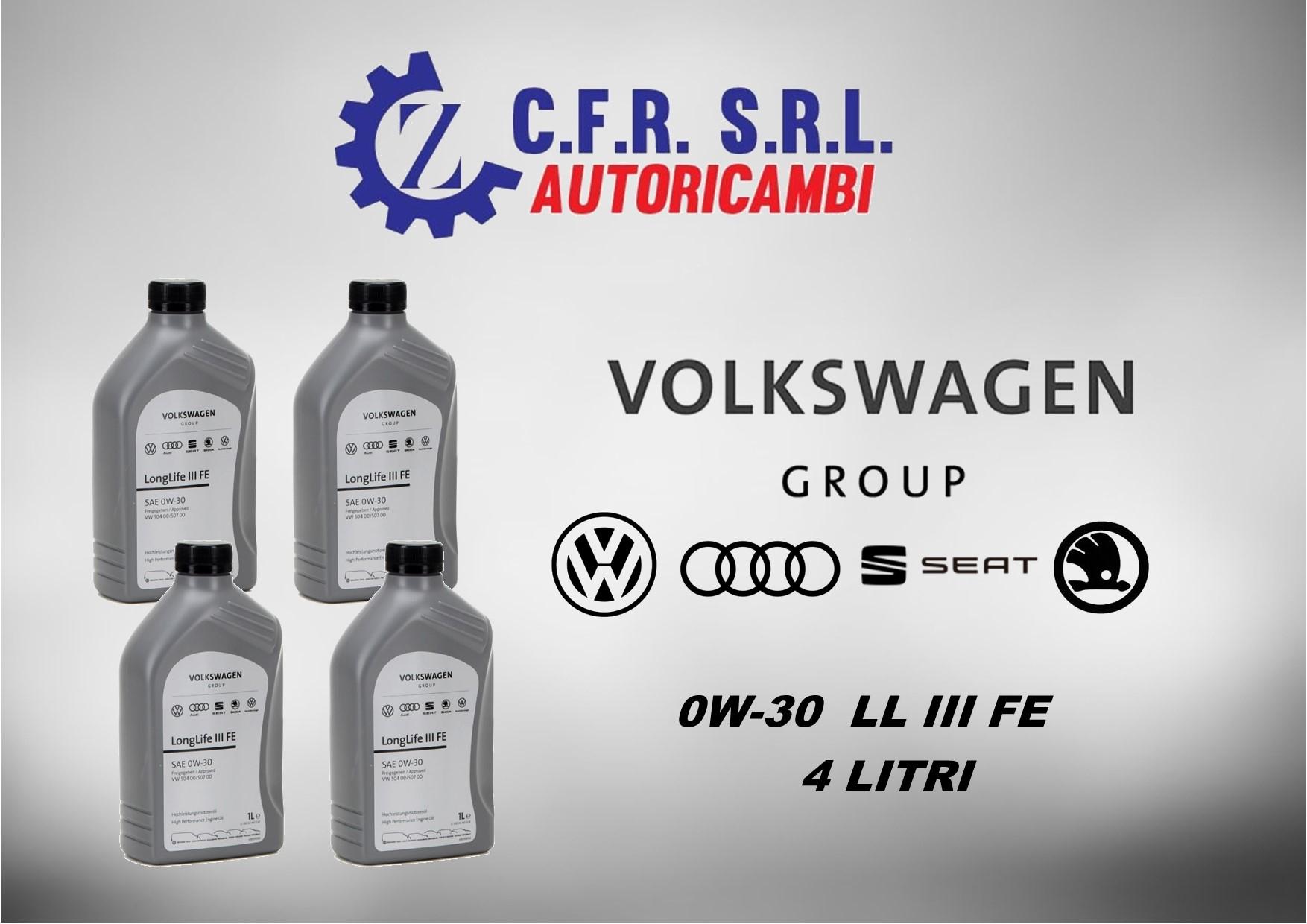 4PZ OLIO LUBRIFICANTE VW 0W-30 ORIGINALE