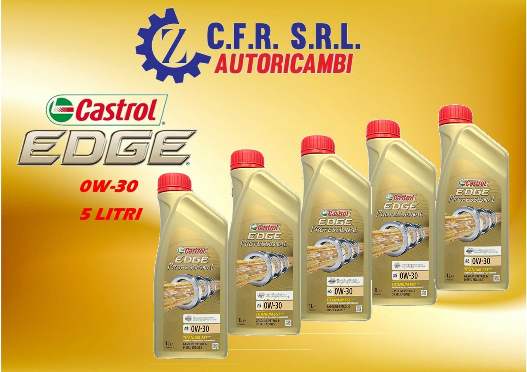 5PZ OLIO LUBRIFICANTE CASTROL EDGE 0W-30