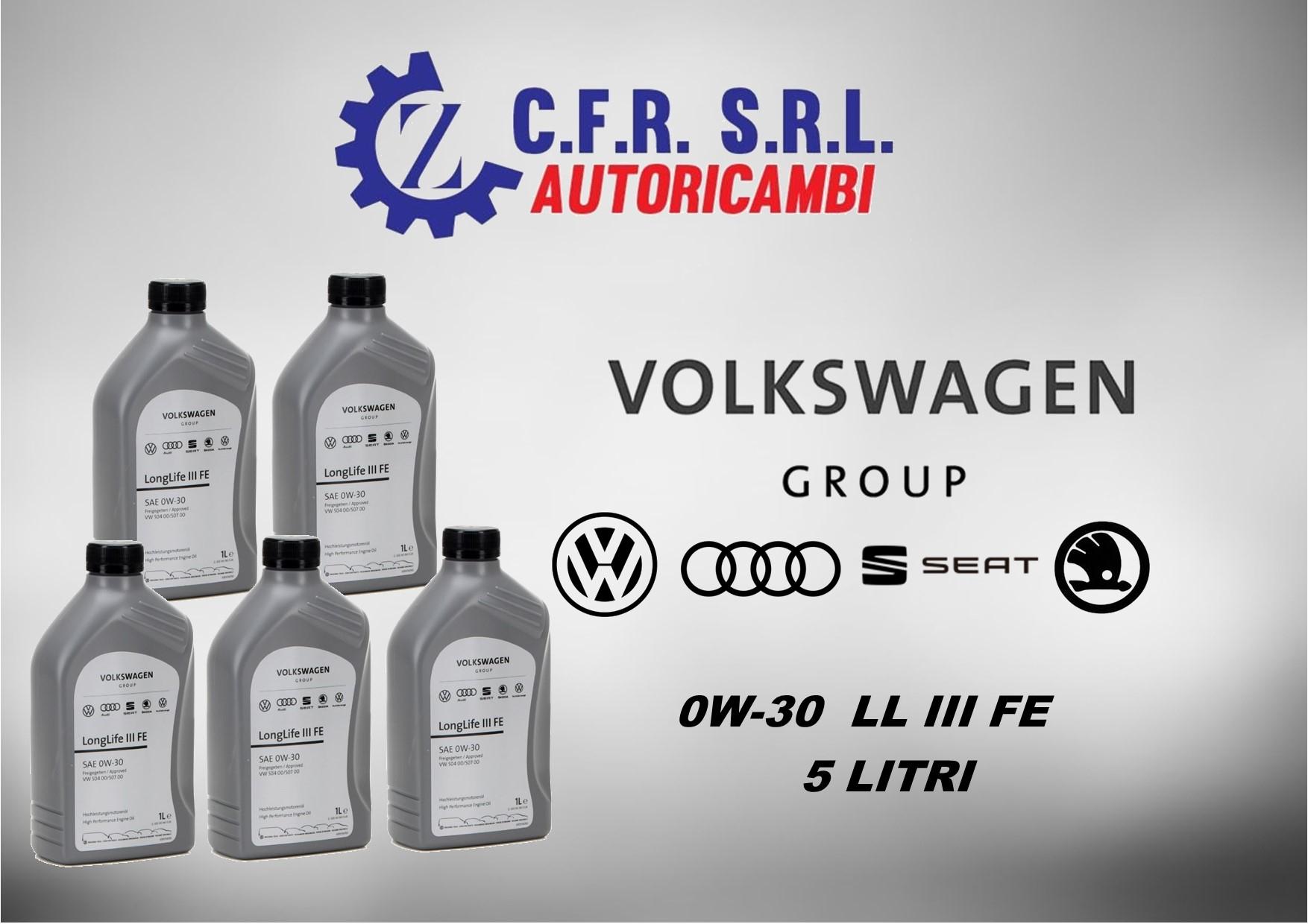 5PZ OLIO LUBRIFICANTE VW 0W-30 ORIGINALE