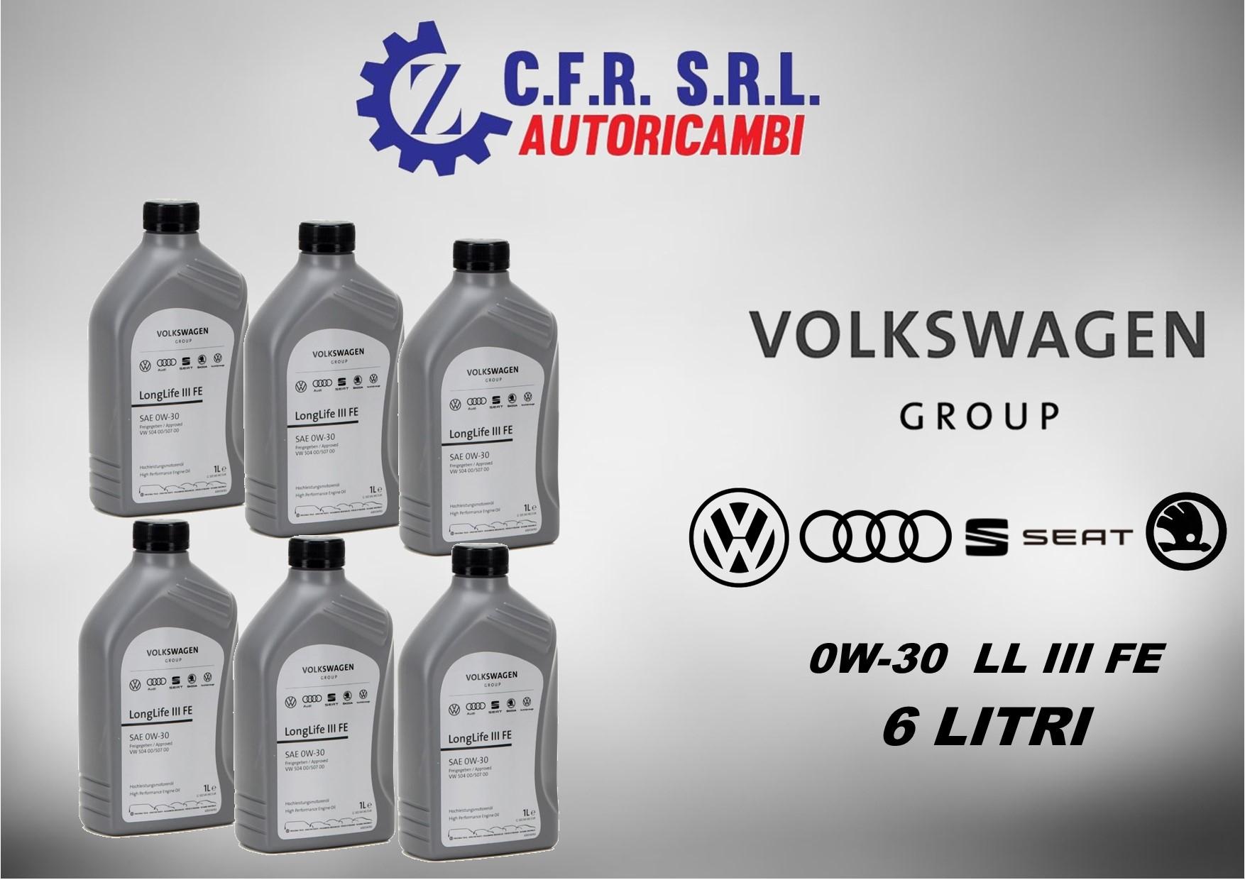 6PZ OLIO LUBRIFICANTE VW 0W-30 ORIGINALE