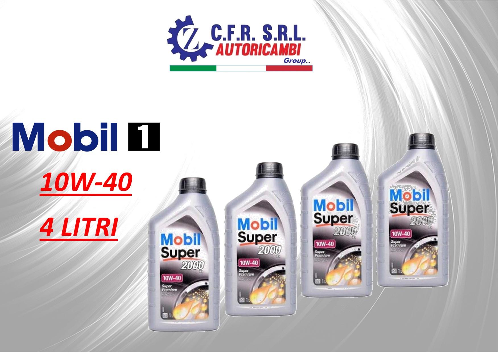 4PZ OLIO LUBRIFICANTE MOBIL SUPER 2000 10W-40