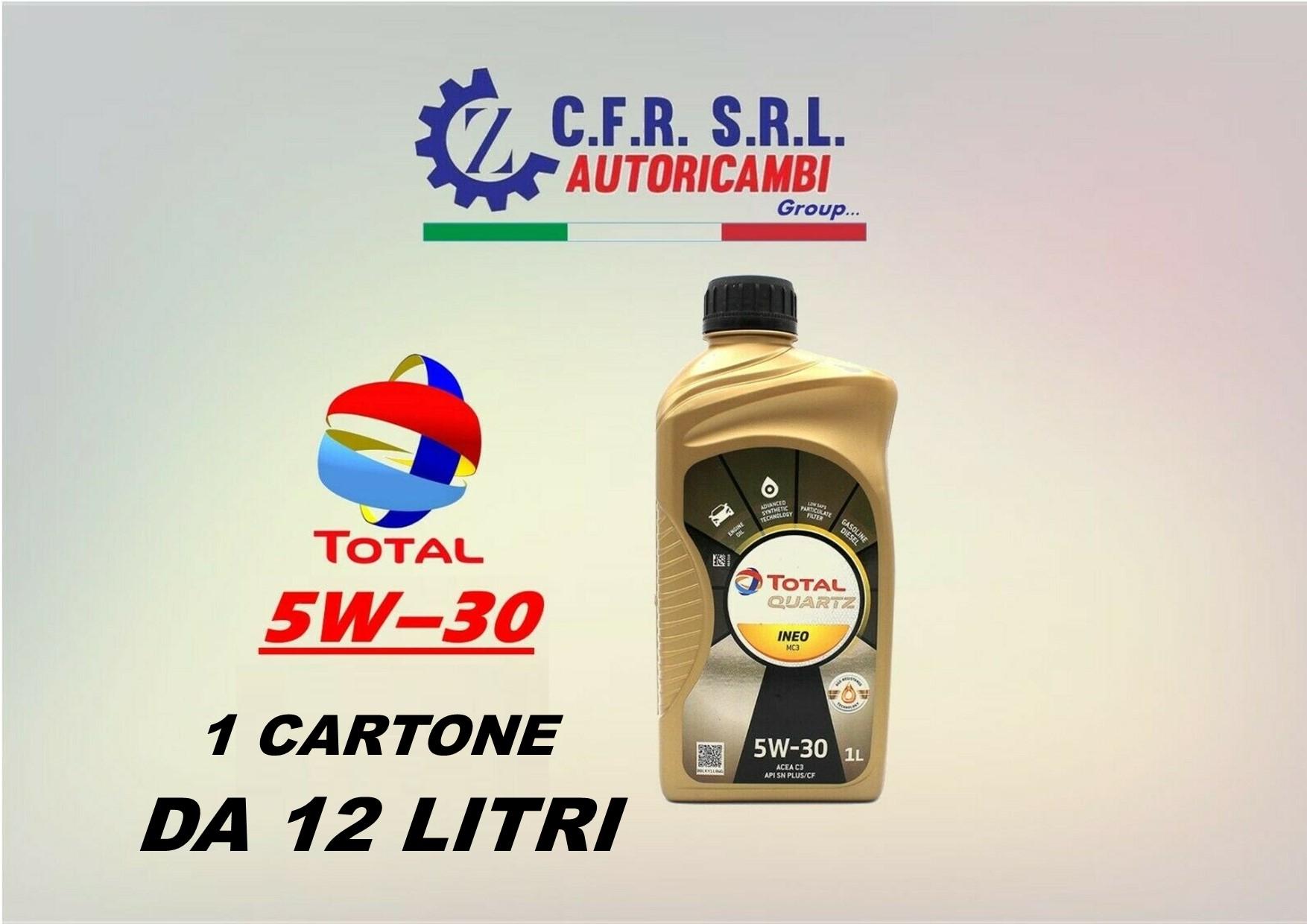 12PZ OLIO LUBRIFICANTE TOTAL INEO QUARTZ MC3 5W-30