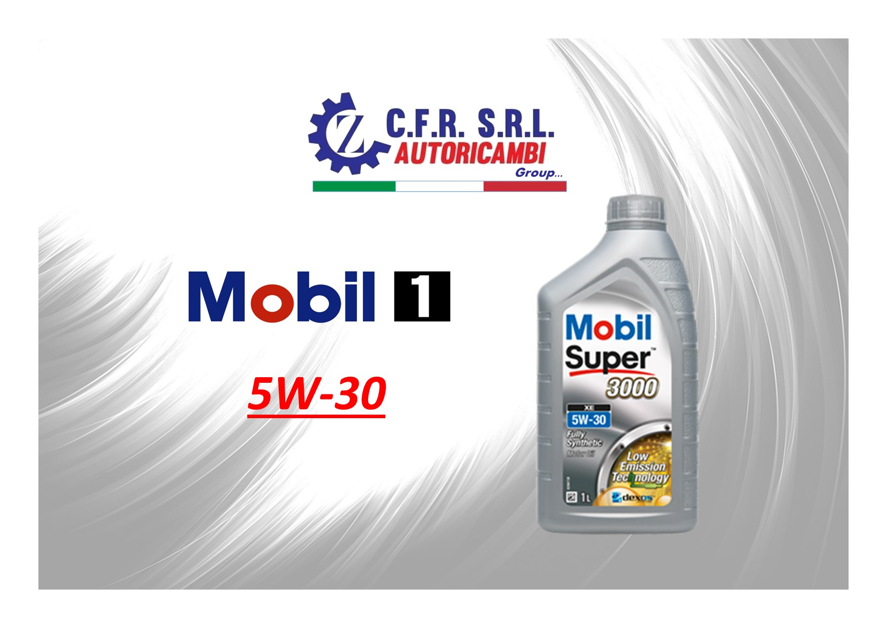 OLIO LUBRIFICANTE MOBIL SUPER 3000 5W-30 FORMULA XE