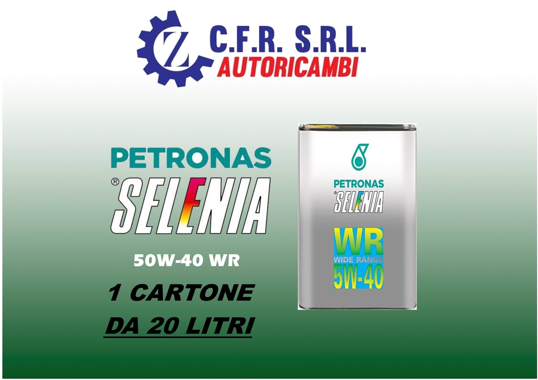 20PZ OLIO LUBRIFICANTE SELENIA WR 5W-40