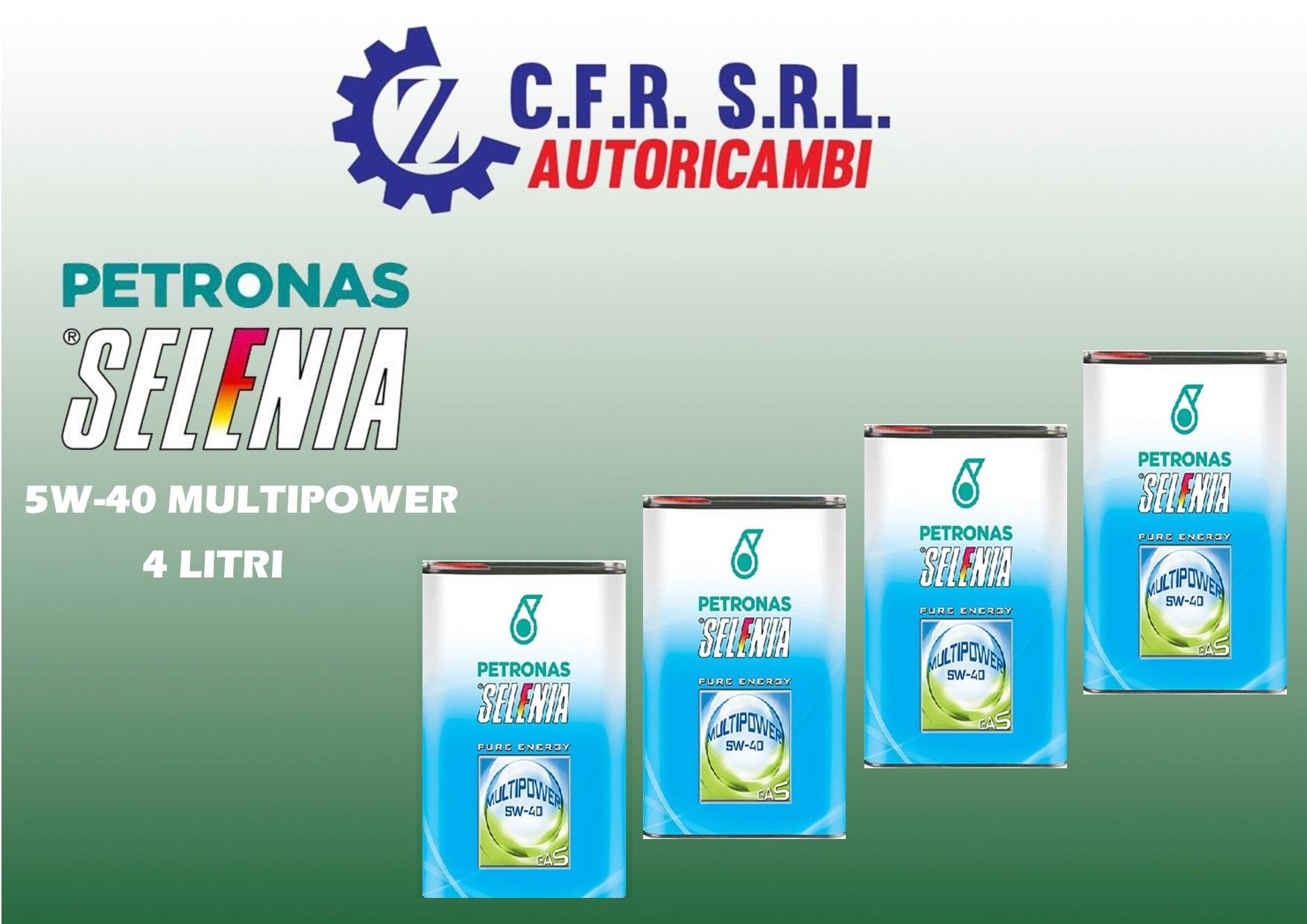 4PZ OLIO LUBRIFICANTE SELENIA MULTIPOWER 5W-40 GAS E METANO
