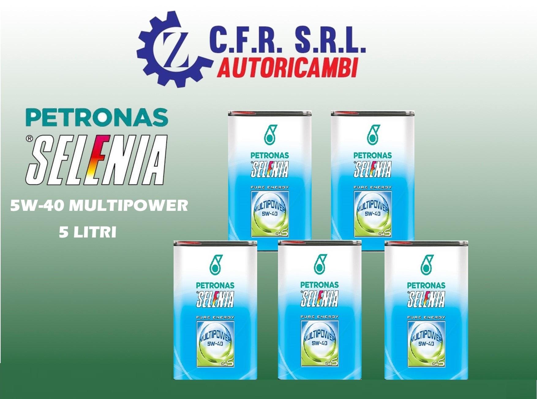 5PZ OLIO LUBRIFICANTE SELENIA MULTIPOWER 5W-40 GAS E METANO