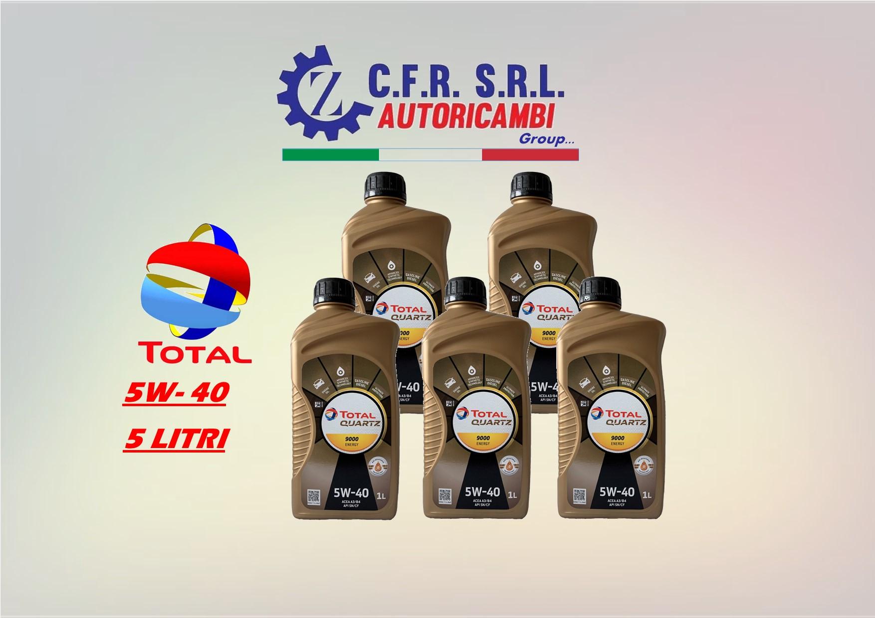 5PZ OLIO LUBRIFICANTE TOTAL QUARTZ 9000 5W-40