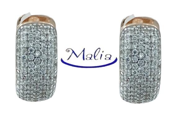 Orecchini a cerchio in argento 925 rosè o bianco con pavè di zirconi neri o bianchi