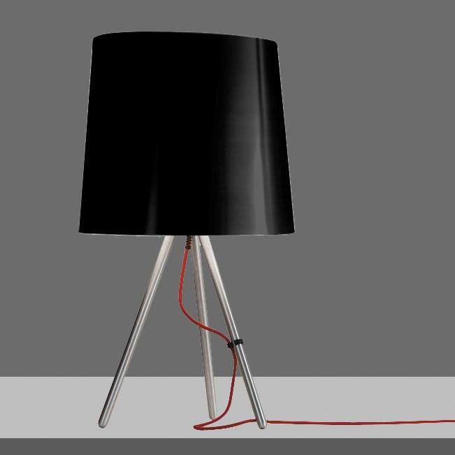 LAMPADA DA TAVOLO NERO  798/J EVA MARTINELLI LUCE