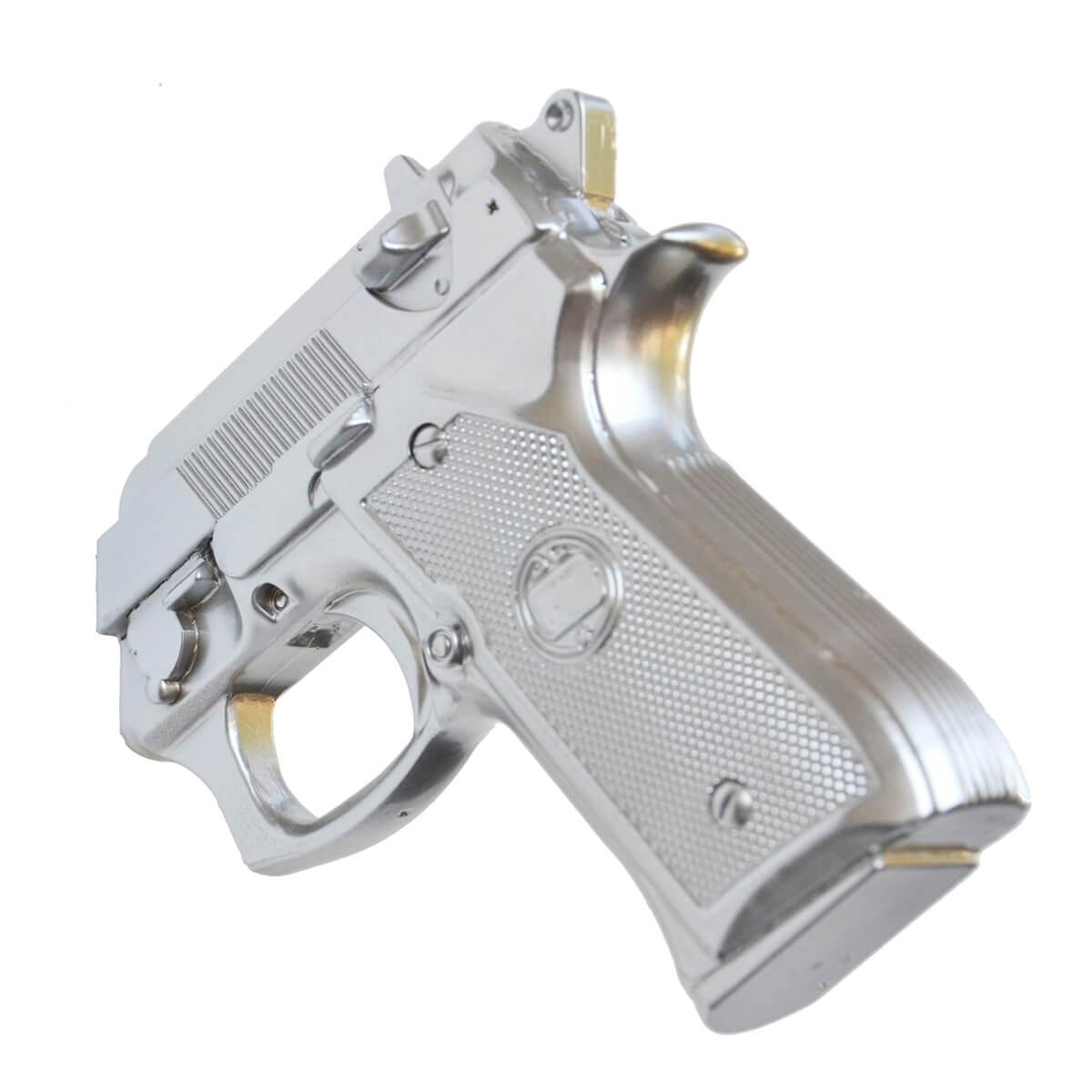Appendiabiti da parete Pistol alluminio in resina decorato a mano