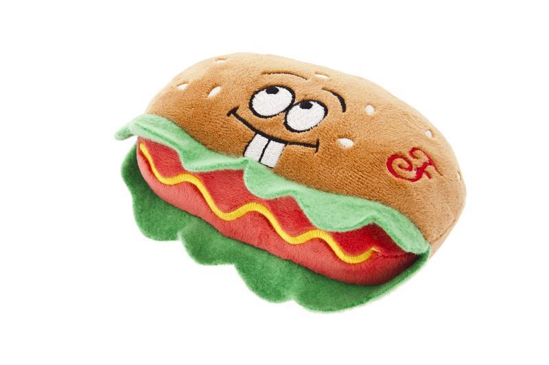Ferribiella Gioco per Cani Ciniglia/Gomma Hamburger