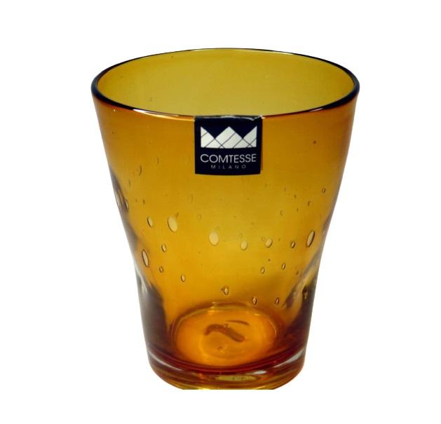 Bicchiere colorato con bolle AMBRA   Samoa
