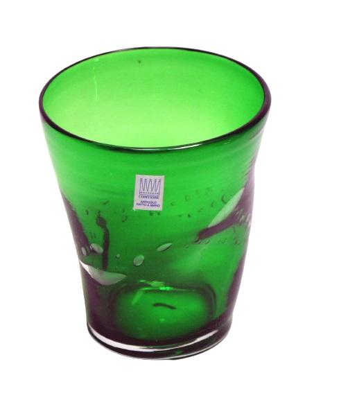 Bicchiere colorato con bolle VERDE ABETE  Samoa