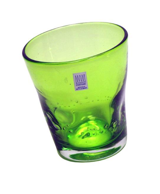 Bicchieri colorati con bolle Samoa Verde