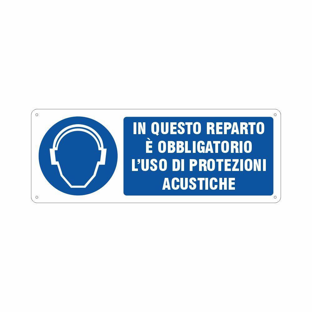 Cartello obbligo uso di protezioni acustiche