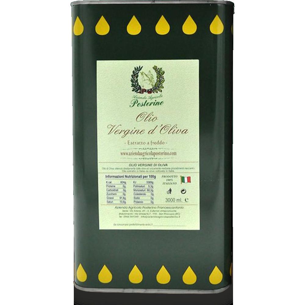 Olio vergine d'oliva estratto a freddo 100% Ita lt 3