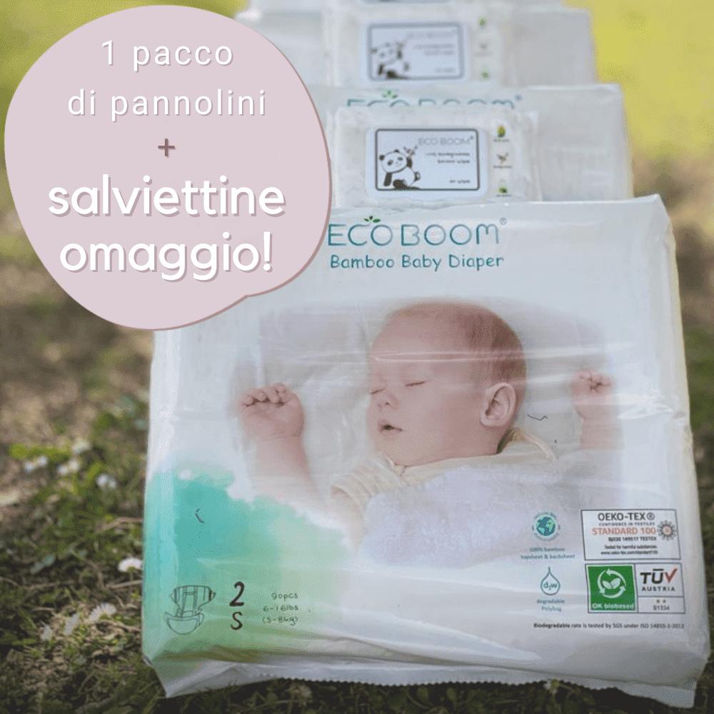 Pannolini biodegradabili + salviettine omaggio