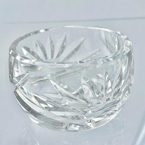 Ciotolina in cristallo porta sale Diametro bocca 5.50 alta 3.8 cm