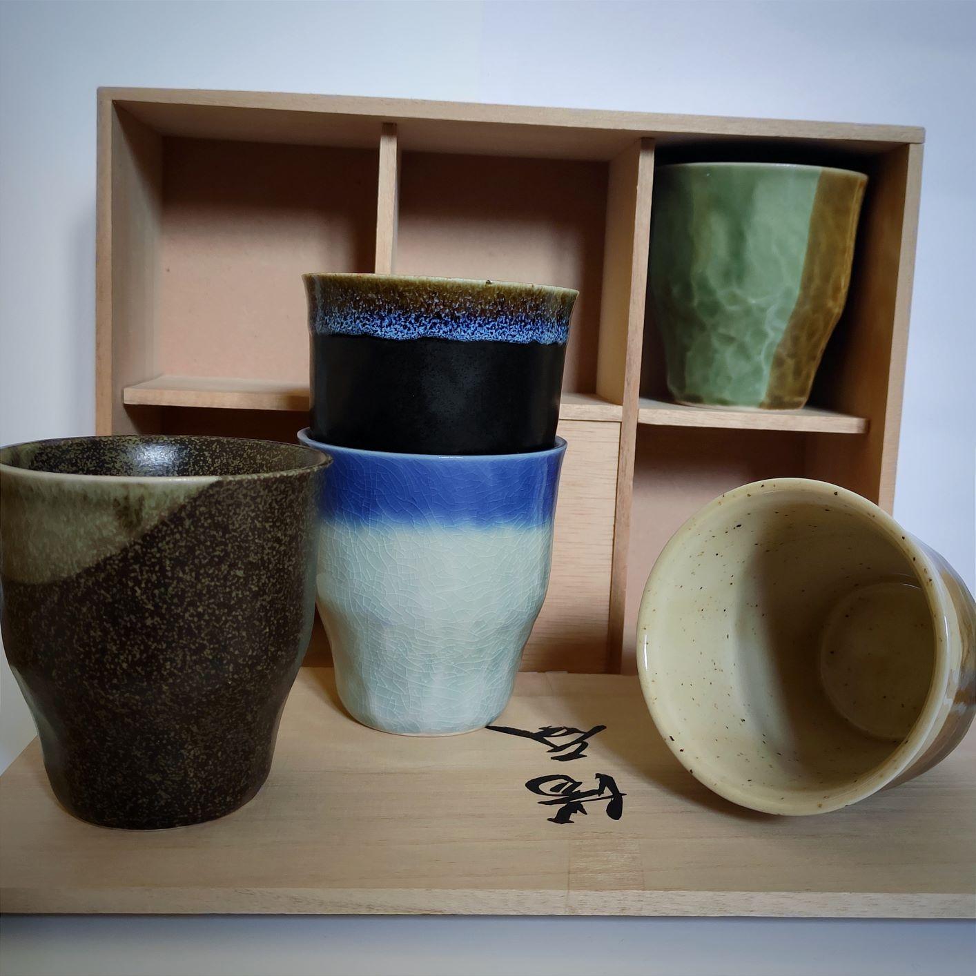 Set 5 tazze alte 300 cc in ceramica