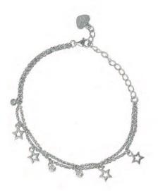 OSA JEWELS - Bracciale Argento MAYROSE con stelle