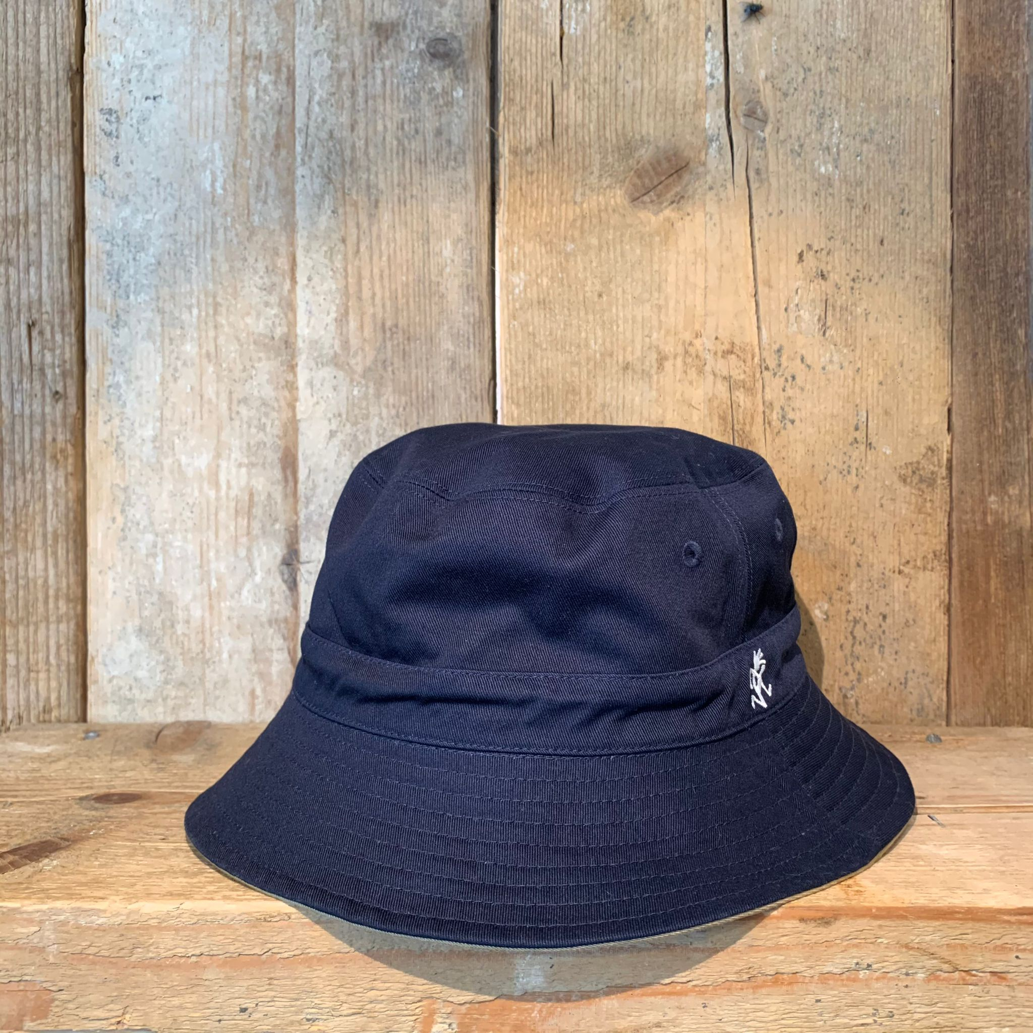 Cappellino Bucket Gramicci Reversible Hat Chino x Double Navy